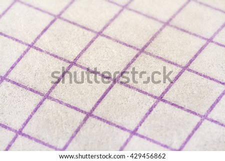 Fragment of checkered card. Closeup, soft focus view. - stock photo