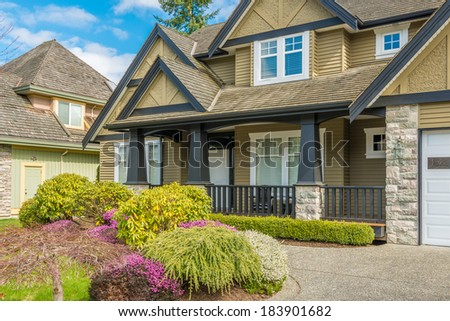 Fragment of luxury house in Vancouver, Canada - stock photo