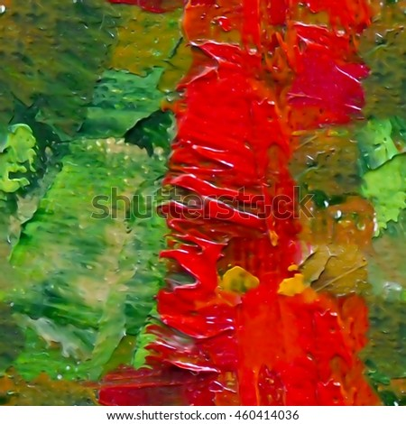 Fragment of oil painted texture. Seamless abstract background