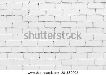 Fragment of old white brick wall for background or texture - stock photo