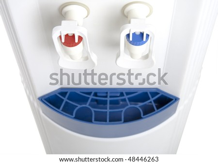 Fragment of the cooler on a white background. - stock photo