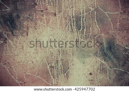 Fragment of the picture for the abstract artistic background. Selective focus. Shallow depth of field. Toned. - stock photo