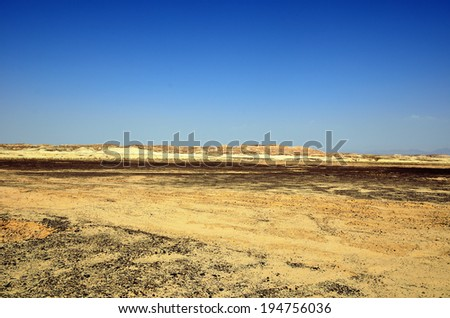 Fragment of the southern stretch of the Arabah(Arava), Israel. - stock photo