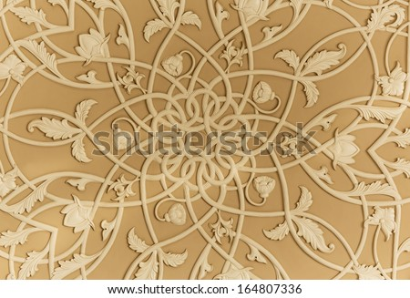 Fragment pattern interior, Sheikh Zayed Mosque, Abu Dhabi, UAE - stock photo