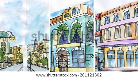 fragments of architecture - stock photo