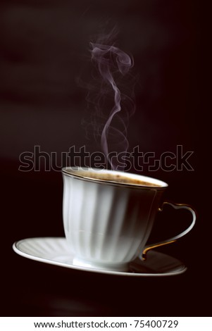 fragrant coffee on a black background