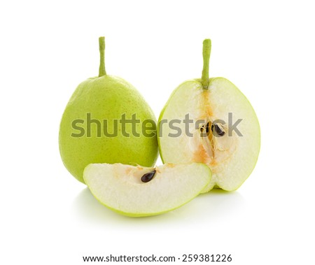 fragrant pear isolated on white background