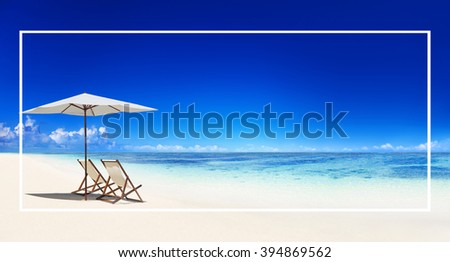 Frame Blank Advertisement Message Abstract Concept - stock photo