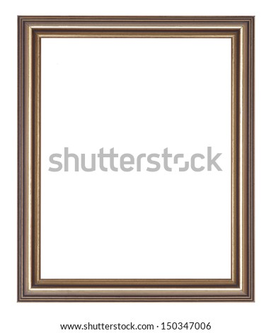 Frame - bronze picture frame - stock photo
