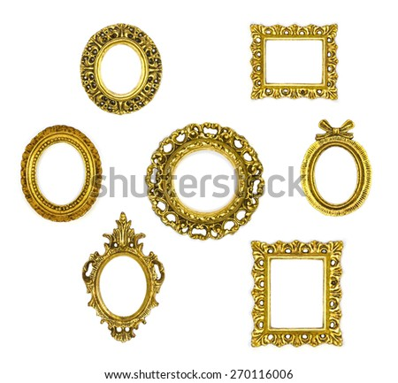 frame collection on white background