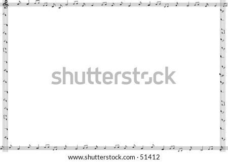 Frame composed of rasterlines and musicnotes