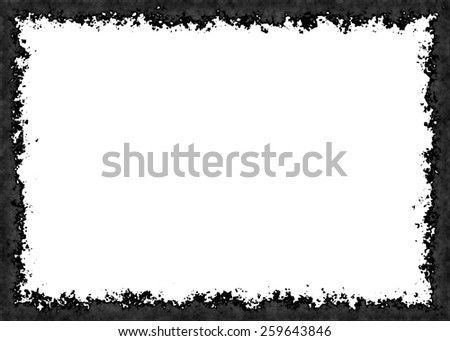 frame from charcoal on white backgrounds with clipping path