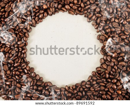 frame from coffee beans - stock photo