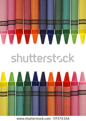 Frame from Crayons - stock photo