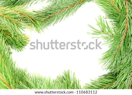 Frame from pine branches - christmas concept