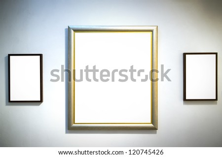 Frame gallery - stock photo