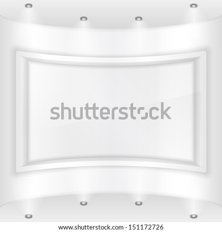 Frame in a gallery - stock photo