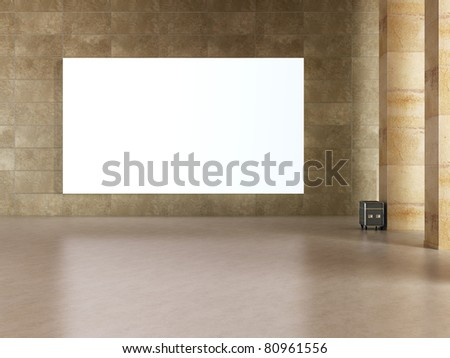 frame in art gallery - stock photo