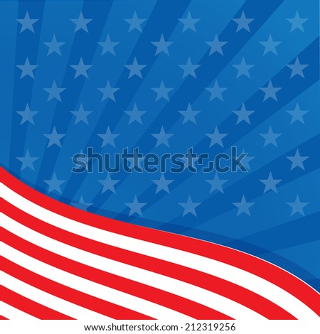 Frame in the colors of the flag of the United States. - stock photo