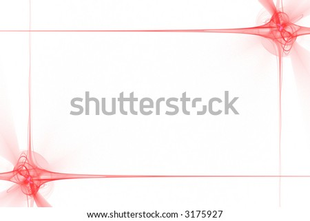 Frame made of abstract red flashes or stars over white - stock photo