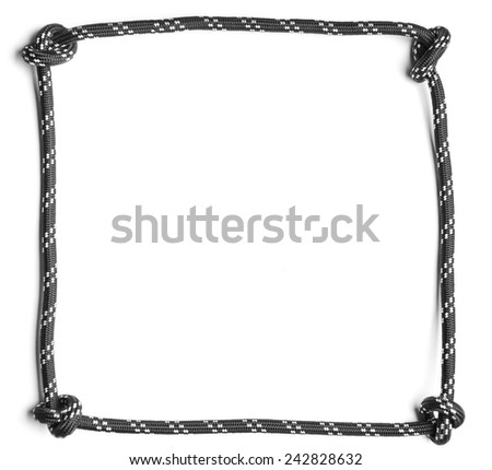 Frame Made Black Rope Knots Corners Stock Photo (Royalty Free ...