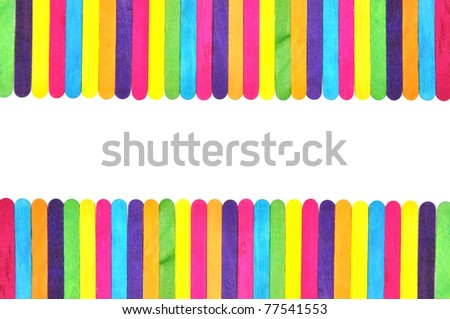 frame made of colorful ice cream bar - stock photo