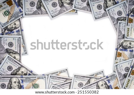 Frame made of money - stock photo