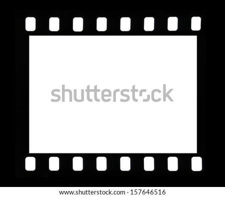 Frame of a photofilm shot on a white background - stock photo