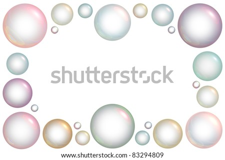 frame of bubbles of different sizes
