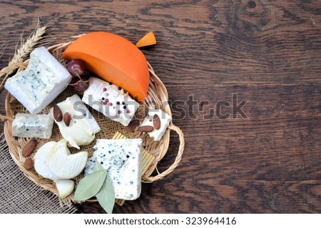 frame of cheese, background for text or logo,cooking concept - stock photo