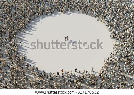 frame of crowds - stock photo