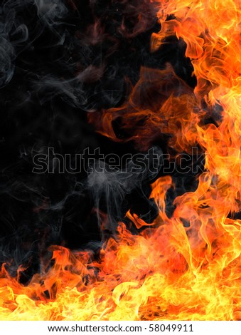 Frame of fire - stock photo