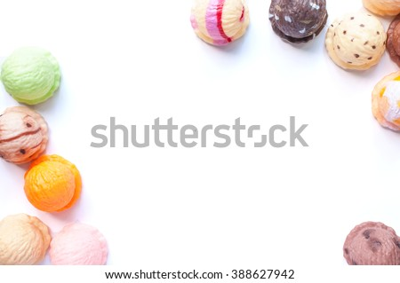 Frame Ice Cream Scoops Collection On Stock Photo (Royalty Free ...