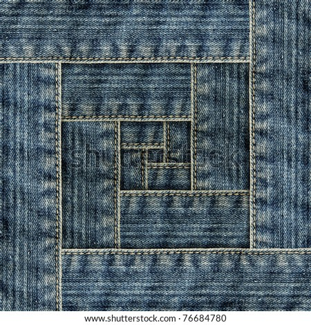Frame of jeans - stock photo