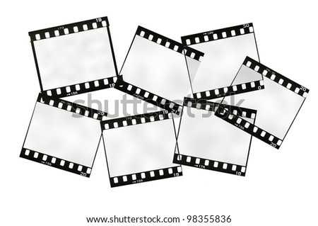 frame of 35mm film strip, isolated on white - stock photo