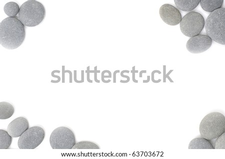 Frame of natural pile stones - stock photo