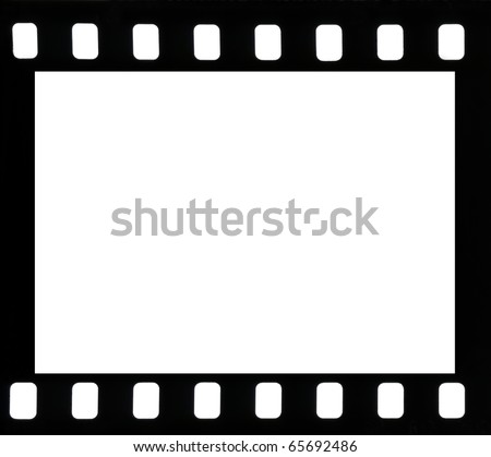 Frame of negative film - stock photo