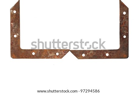 frame of rusty metal