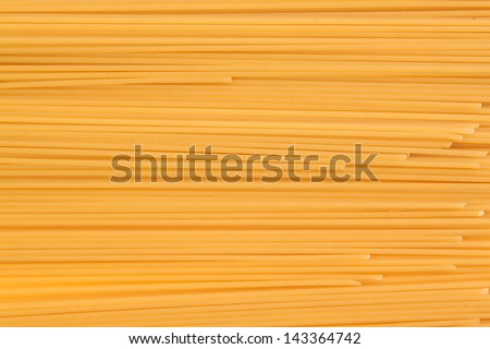 Frame of spaghetti third number clouse-up without white background