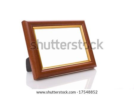 frame on white background - stock photo