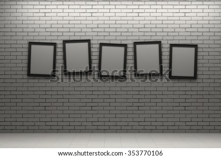 frame on white brick wall