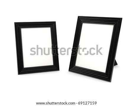Frame over white background. Computer generated image