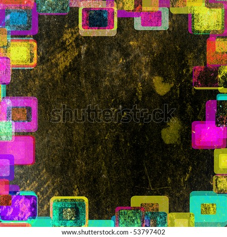 frame squares abstract against a dark background - stock photo