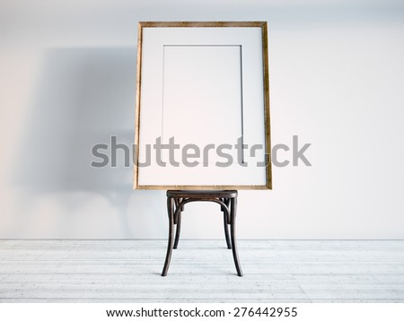 Frame Stands On Chair 3 D Rendering Stock Illustration 276442955 ...