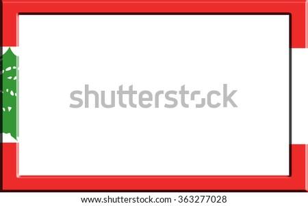 Frame Striped Lebanon Flag Stock Illustration 363277028 - Shutterstock