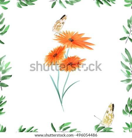stock-photo-frame-with-deep-green-foliag