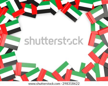 Frame with flag of united arab emirates isolated on white - stock photo