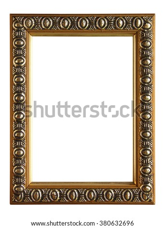 Frame with for picture isolate on white
