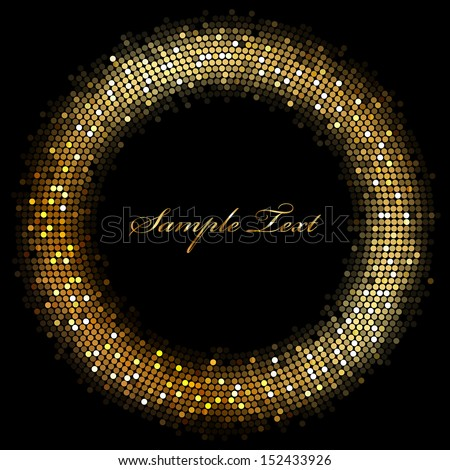 Frame with gold sparkles - stock photo