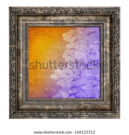 frame with thick border and colorful interior  isolated on white - no copyright infringement - stock photo